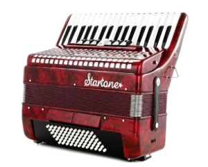 Les plus de l'accordéon Startone Piano Accordion 72 Red