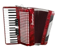 Le Startone Piano Accordion 72 Red